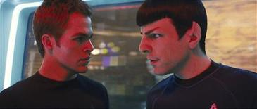 "<p>Actors Chris Pine (L) and Zachary Quinto are shown in a scene from Paramount Pictures' film ""Star Trek"" in this undated publicity photo released to Reuters April 28, 2009. REUTERS/Industrial Light and Magic/Paramount Pictures/Handout</p>"
