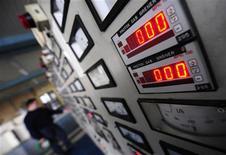 <p>Immagine d'archivio di contatori del gas. REUTERS/Ognen Teofilovski (MACEDONIA)</p>