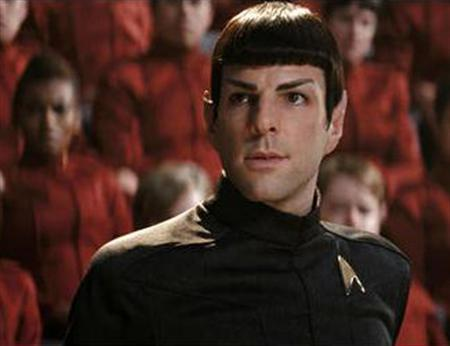 Zachary Quinto as Spock in a scene from ''Star Trek''. REUTERS/Paramount Pictures/Handout