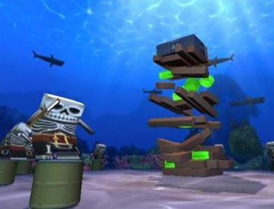 A screenshot from ''Boom Blox Bash Party'' courtesy of Electronic Arts. In the game up to four players face a range of challenges of up to 400 levels in locations as diverse as outer space and deep under the sea where they can create their own user-generated content and share this with others online. REUTERS/EA/Handout
