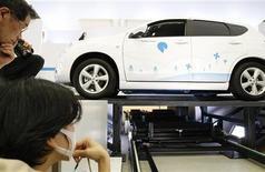 <p>Un modello di auto elettrica. REUTERS</p>