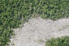<p>Immagine dall'alto della foresta amazzonica. REUTERS/Paulo Whitaker/Files</p>