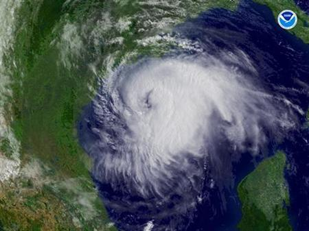 Hurricane Ike approaches Texas in a September 2008 satellite image. REUTERS/NOAA/Handout