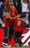 <p>Jogador David Villa, da Espanha, comemora após vencer do Iraque na Copa das Confederações. 17/06/2009. REUTERS/Jerry Lampen</p>