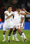 <p>Mohamed Hommos, do Egito, comemora gol da vitória sobre a Itália por 1 a 0 pela Copa das Confederações. REUTERS/Dylan Martinez</p>