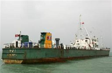 The Kang Nam I, a North Korean 2,035-tonne general cargo ship, is pictured near Lantau Island in Hong Kong in this October 24, 2006 file photo. REUTERS/Paul Yeung/Files