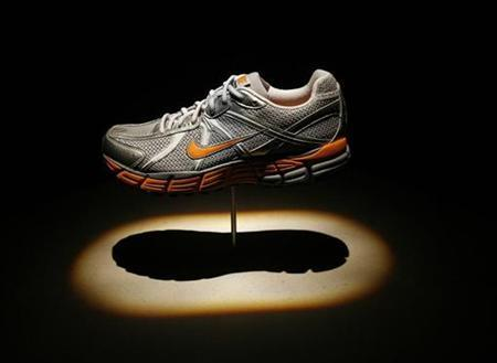 The Nike Pegasus 25 running shoe is seen during the Nike Considered Design news conference in New York October 28, 2008. REUTERS/Shannon Stapleton