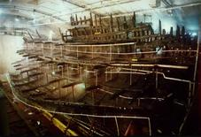 <p>The hull of Henry VIII's fabled Mary Rose warship is seen in this image taken in the 1990s. REUTERS/ Credit Portsmouth Historic Dockyard</p>