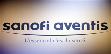 Logo of the French drugs group Sanofi Aventis company seen at the shareholder's meeting in Paris in this file photo from April 17, 2009. REUTERS/Charles Platiau
