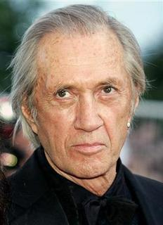 U.S. actor David Carradine arrives for a screening at the 57th Cannes Film Festival in this May 21, 2004 file photo. REUTERS/Eric Gaillard/Files