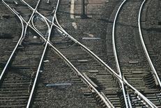 <p>Rail tracks are shown in this file image. REUTERS/Regis Duvignau</p>