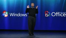 <p>Microsoft offrirà versione gratuita online dei programmi Office. REUTERS/Shannon Stapleton</p>