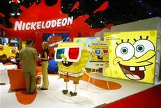 <p>Sponge Bob Square Pants sits on display at Nickelodeon's licensing booth during the Licensing 2003 International exposition in the Jacob K. Javits Convention Center in New York June 12, 2003. REUTERS/Shannon Stapleton</p>