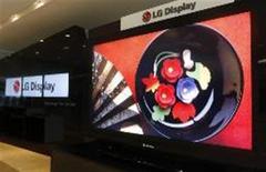 <p>Televisores de cristal líquido da LG Display. A companhia informou que investirá 2,55 bilhões de dólares para ampliar sua capacidade de produção. REUTERS/Lee Jae-Won</p>