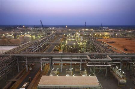 Reliance Industries KG-D6's facility located in Andhra Pradesh is pictured in this undated handout photo. REUTERS/Reliance Industries/Handout