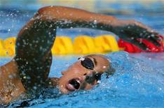 <p>Alessia Filippi durante i Mondiali di nuoto a Roma. REUTERS/Alessandro Bianchi</p>