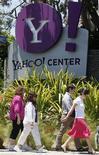 <p>Escritórios do Yahoo em Santa Monica, nos Estados Unidos. Os executivos de publicidade aprovaram a parceria entre Yahoo e Microsoft no mercado de buscas, anunciada na véspera, esperando que ela ofereça aos anunciantes mais força contra o Google.</p>