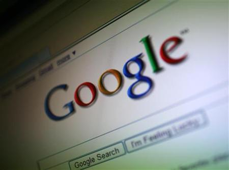 A photo of the Google Inc. logo is shown on a computer screen in San Francisco, California July 16, 2009. The Federal Communications Commission is seeking additional information about Apple Inc's decision to reject Google Inc's voice application for the iPhone. REUTERS/Robert Galbraith