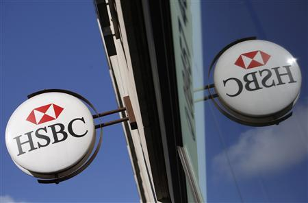 A branch of HSBC bank is seen, in central London August 3, 2009. HSBC Holdings, Europe's biggest bank, said its first half profits halved from a year ago to $5 billion as it was hit by rising bad debts in the United States, Europe and Asia. REUTERS/Stefan Wermuth
