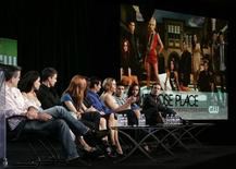 "<p>Producers and stars of the series ""Melrose Place"" participate in a panel discussion at the CW Television Network Summer 2009 Television Critics Association press tour in Pasadena, California August 4, 2009. REUTERS/Danny Moloshok</p>"