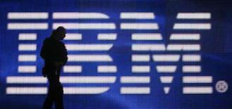 <p>Tela gigante em estande da IBM na CeBIT, Alemanha. A IBM espera que seus negócios com análise de dados cresçam cerca de 10 por cento neste ano e entre 15 e 20 por cento em 2010.</p>