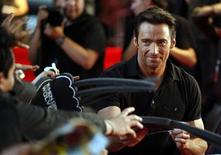 <p>Australian actor Hugh Jackman signs autographs before the film's premiere at The National Auditory in Mexico City in this May 26, 2009 file photo. REUTERS/Eliana Aponte</p>