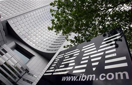 View of IBM headquarters at la Defense in Paris, May 6, 2005. REUTERS/Philippe Wojazer