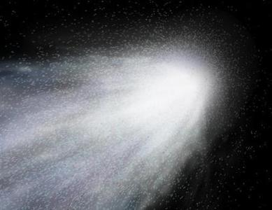 An artist's concept of the gas and dust around comet Wild 2. REUTERS/NASA/JPL/Handout