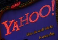 <p>Una insegna di Yahoo a Times Square, a New York. REUTERS/Brendan McDermid (UNITED STATES)</p>