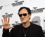 """<p>Diretor Quentin Tarantino de """"Bastardos Inglórios"""" na estreia do filme em Hollywood. 10/08/2009. REUTERS/Mario Anzuoni</p>"""