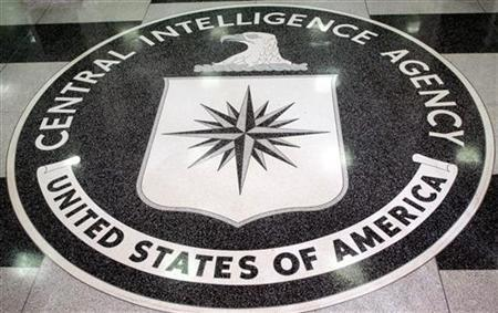 The logo of the U.S. Central Intelligence Agency is shown in the lobby of the CIA headquarters in Langley, Virginia March 3, 2005. REUTERS/Jason Reed