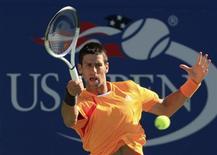 <p>Novak Djokovic faez estreia impressionante no Aberto dos EUA REUTERS/David Gray</p>