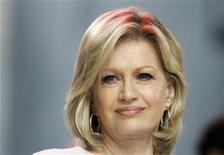 "<p>Diane Sawyer, co-anchor of ABC's ""Good Morning America"" television show is pictured on the program in New York October 9, 2007. REUTERS/Gary Hershorn</p>"