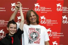 "<p>U.S. actor Viggo Mortensen (R) and Australian actor Kodi Smit-McPhee attend a photocall for the movie ""The Road"" at the Sala Grande during the Venice Film Festival September 3, 2009. REUTERSAlessandro Bianchi</p>"