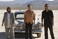 "<p>(L-R) Zach Galifianakis, Ed Helms, and Bradley Cooper in a scene from ""The Hangover"". REUTERS/Warner Bros. Pictures/Handout</p>"