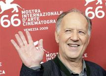 <p>German film director Werner Herzog poses for photographers during a photocall at the 66th Venice Film Festival September 5, 2009. REUTERS/Tony Gentile</p>