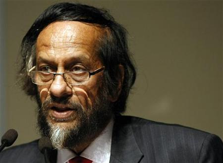 Chairman of the United Nations' Intergovernmental Panel on Climate Change (IPCC) Rajendra Pachauri addresses the high level segment of the World Climate Conference-3 (WCC-3) at the CICG in Geneva September 3, 2009. REUTERS/Denis Balibouse