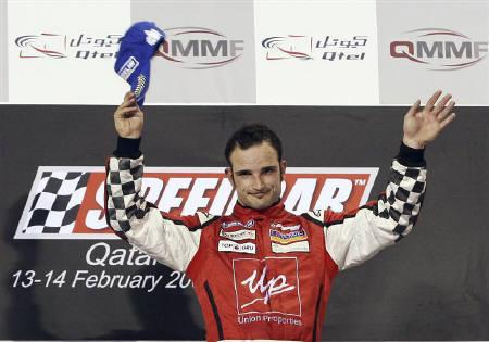 A file photo of Italy's Vitantonio Liuzzi in Doha February 14, 2009.  REUTERS/Fadi Al-Assaad/Files