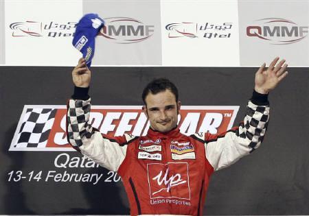 A file photo of Italy's Vitantonio Liuzzi in Doha February 14, 2009.  REUTERS/Fadi Al-Assaad/Files