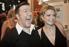 "<p>Actor Ricky Gervais and his girlfriend Jane Fallon arrive for the ""Invention of Lying"" film screening during the 34th Toronto International Film Festival, September 14, 2009. The festival runs from September 10-19. REUTERS/Mark Blinch</p>"