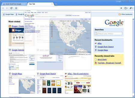 An undated screenshot of Google's Chrome browser. REUTERS/Google/Handout