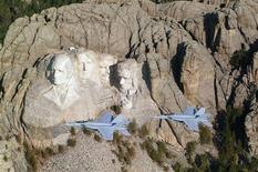 <p>Il monumento del Monte Rushmore.</p>