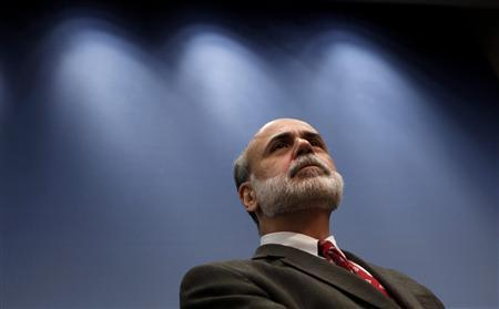 Chairman of the Federal Reserve Ben Bernanke listens to questions after making remarks about a year of economic turmoil at the Brookings Institution in Washington September 15, 2009. REUTERS/Jim Young