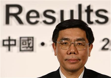 Industrial & Commercial Bank of China Ltd (ICBC) Chairman Jiang Jianqing attends a news conference announcing the 2007 annual results in Hong Kong March 25, 2008. REUTERS/Bobby Yip