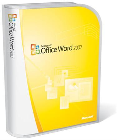 A Microsoft Office Word 2007 box is seen in this undated handout file photo. REUTERS/Microsoft/Handout
