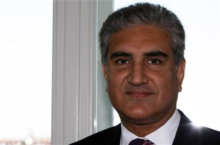 Pakistan's Foreign Minister Shah Mehmood Qureshi speaks during an interview with Reuters at the G8 foreign ministers meeting in Italian northern Adriatic port of Trieste June 26, 2009. REUTERS/Nikola Solic