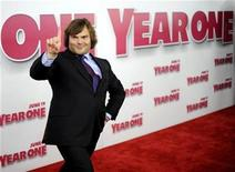 "<p>Actor Jack Black arrives for the premiere of ""Year One"" in New York June 15, 2009. REUTERS/Stephen Chernin</p>"