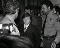 <p>Director Roman Polanski exits the Santa Monica Courthouse after a hearing in his sexual assault case in Santa Monica, California October 24, 1977. REUTERS/Chris Gulker/Herald Examiner Collection/Los Angeles Public Library</p>