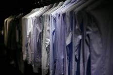 <p>Shirts are displayed in a store in New York in this February 17, 2009 file photo. REUTERS/Eric Thayer</p>