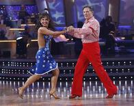 "<p>Professional dancer Cheryl Burke (L) and her partner former US congressman Tom DeLay perform on ""Dancing with the Stars"" in Los Angeles October 6, 2009 in this publicity photograph from ABC. REUTERS/Adam Larkey/ABC/Handout</p>"